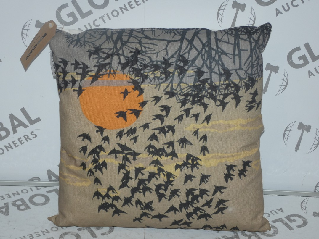 Lot 87 - Lot to Contain 2 Flocking Birds Designer Scatter Cushions RRP £50 (SBZK1038)(10768)