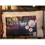 Snug City Dual Layer Mattress Topper RRP £30 (BOUR2645)(11173)
