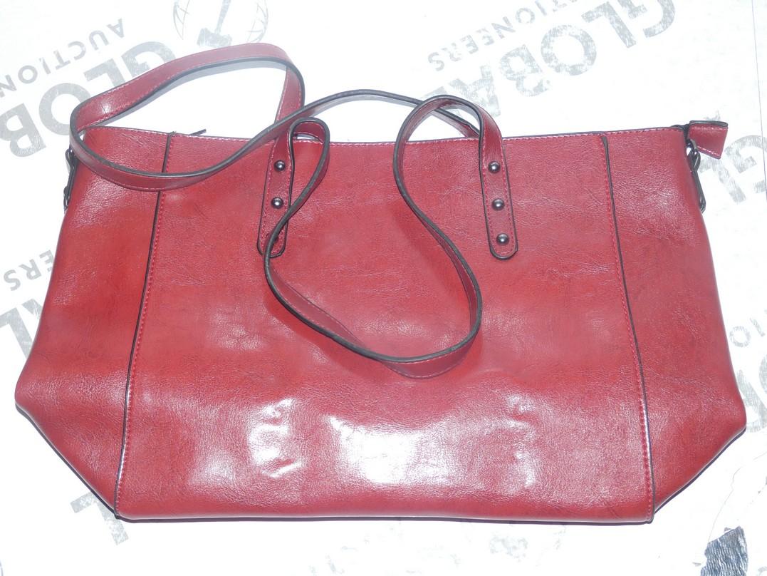 Lot 112 - Brand New Women's Coolives Oxblood Red Leather Designer Shoulder Bag RRP £50