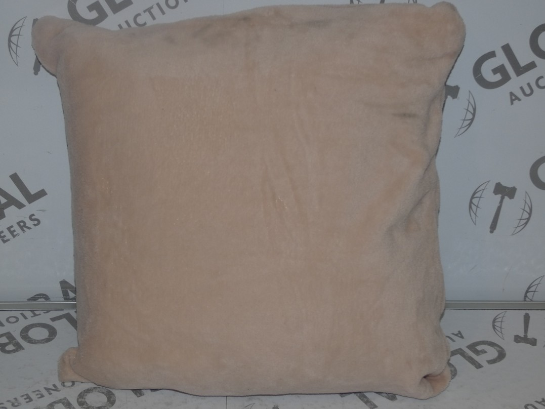 Lot 16 - Lot to Contain 2 Cascade Home Living Micro Fleece 45 x 45cm Square Pink Cushions