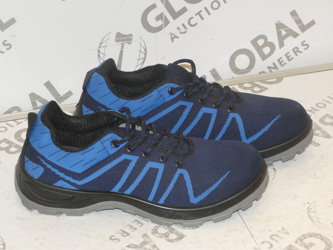 Lot to Contain 2 Brand New Pairs of Easy Safe Steel Toe Cap Safety Trainers in Sizes EU40 and EU45