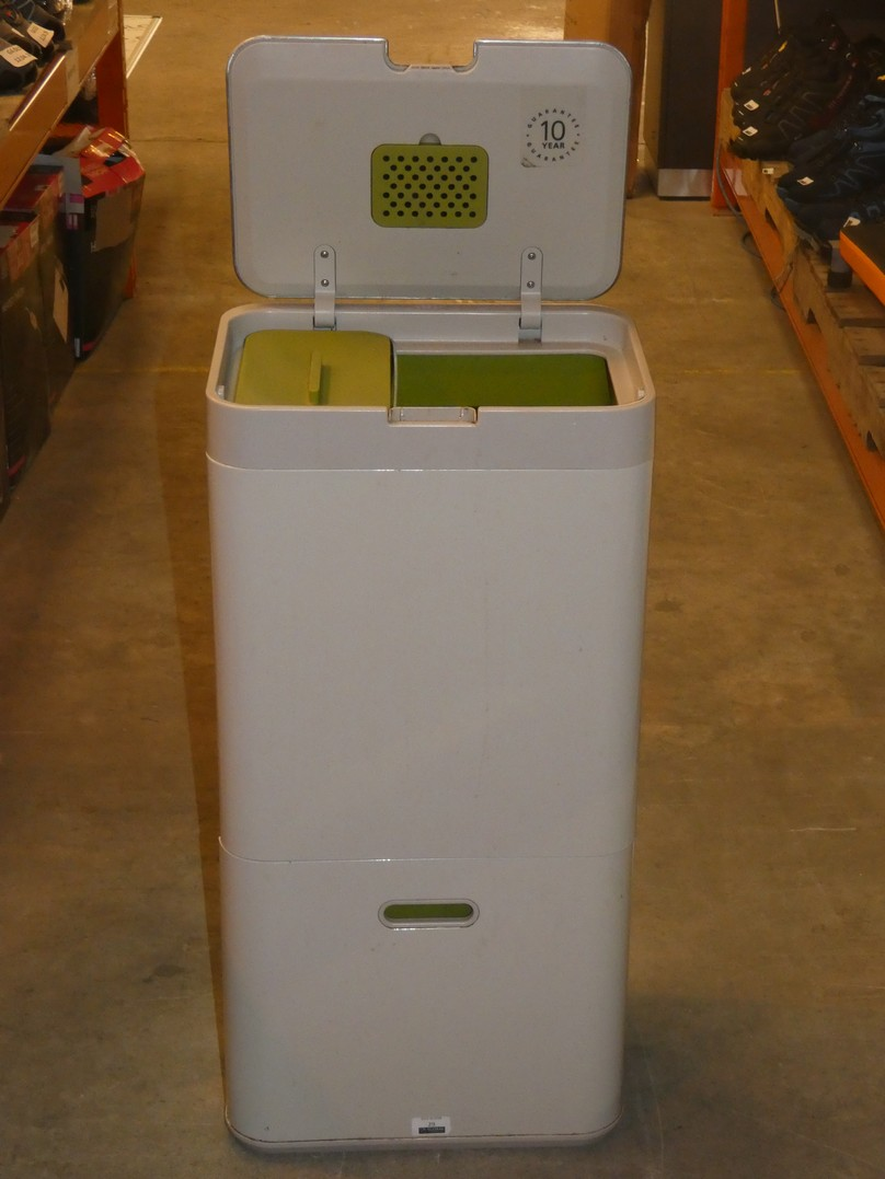 Lot 29 - Boxed Joseph Joseph Intelligent Waste Totem 60 Recycling and Separation Bin RRP £200