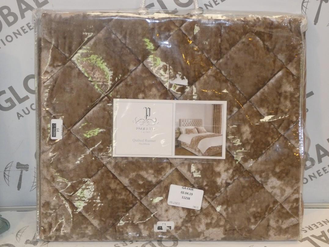 Lot 64 - Paoletti Velvet Plush 50 x 200cm Quilted Bed Runner RRP £40 (150129893)(11238)