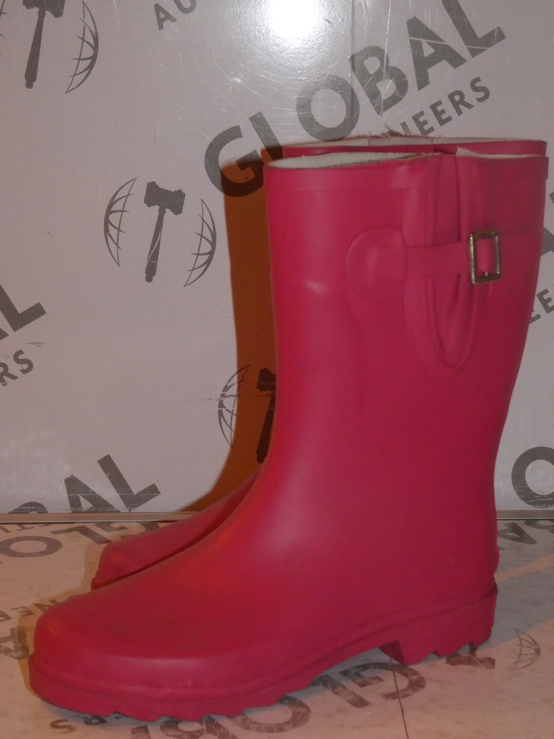 Lot 92 - Brand New Pair of Oufan Size EU35 Hot Pink Wellingtons Boots