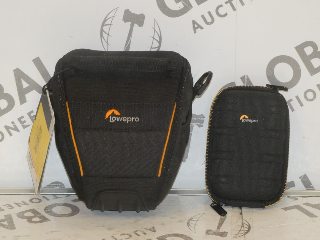 Lot 50 - Lot to Contain 5 Lowepro Assorted Digital Camera Cases and Mini SLR Camera Accessory Cases
