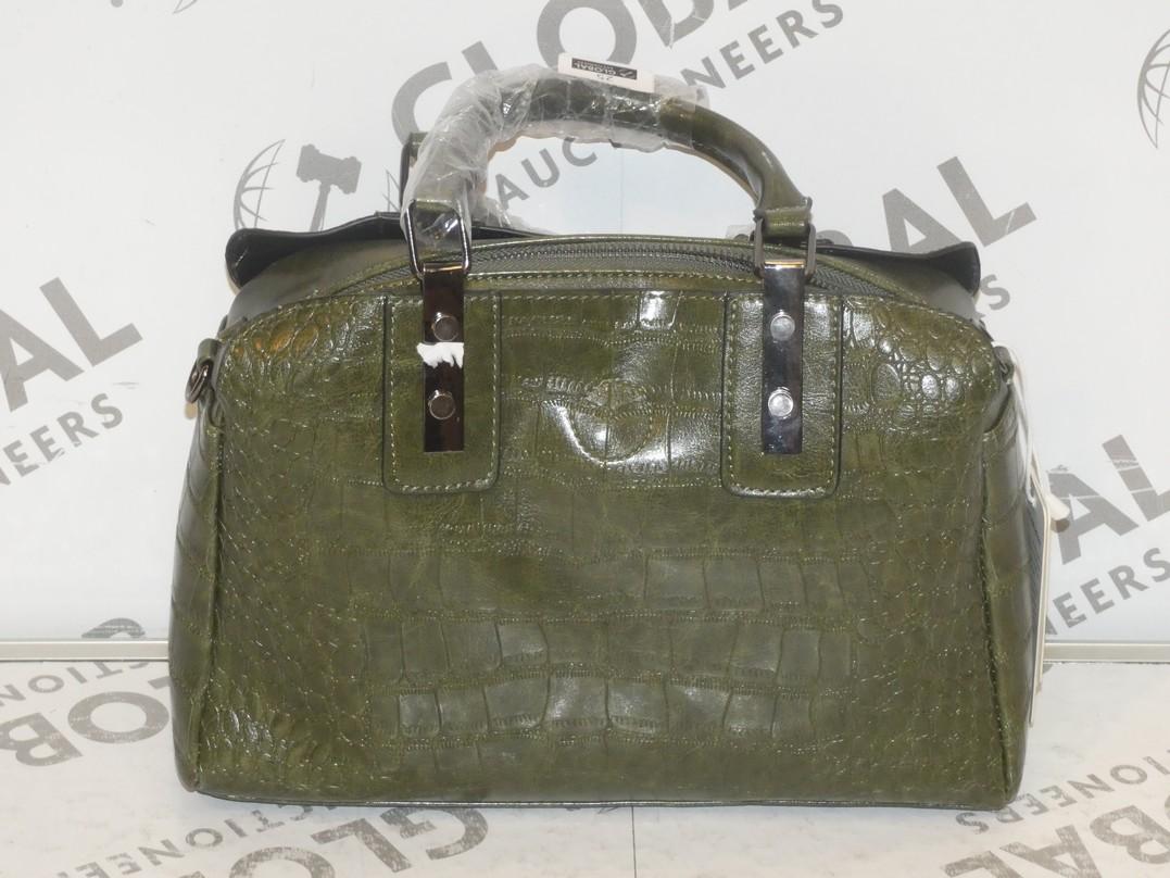 Lot 25 - Brand New Coolives Women's Green Leather Shoulder Bag RRP £50