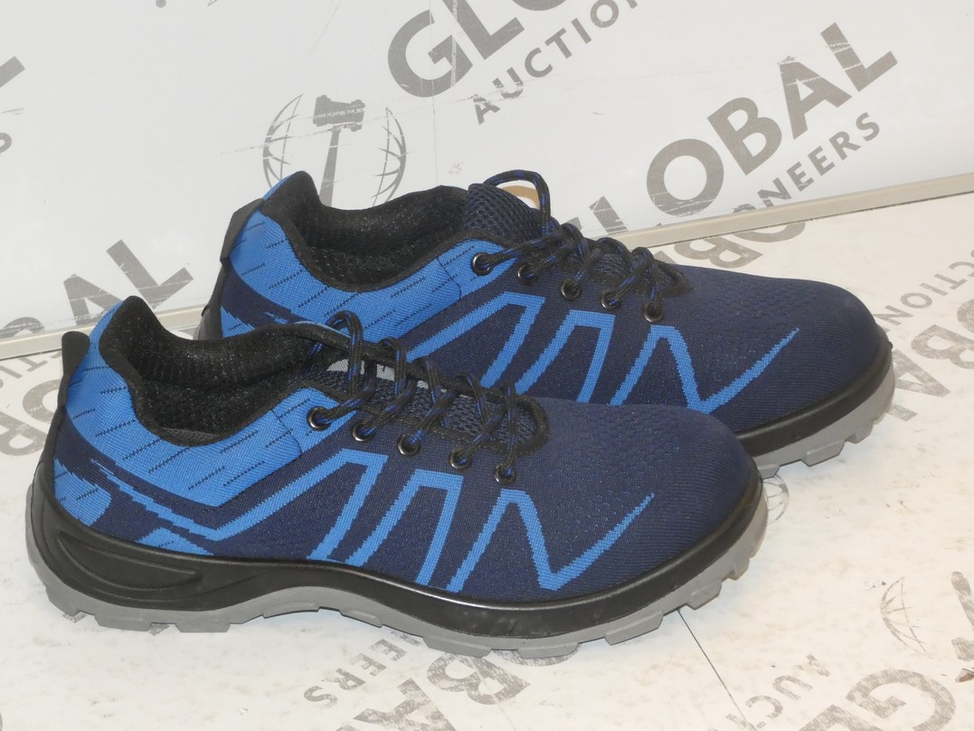 Lot 14 - Lot to Contain 2 Brand New Pairs of Easy Safe Steel Toe Cap Safety Trainers in Sizes EU43 and EU42