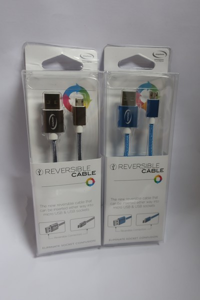 Lot 33 - Twenty boxed as new Mayhem reversible cables for android phones.