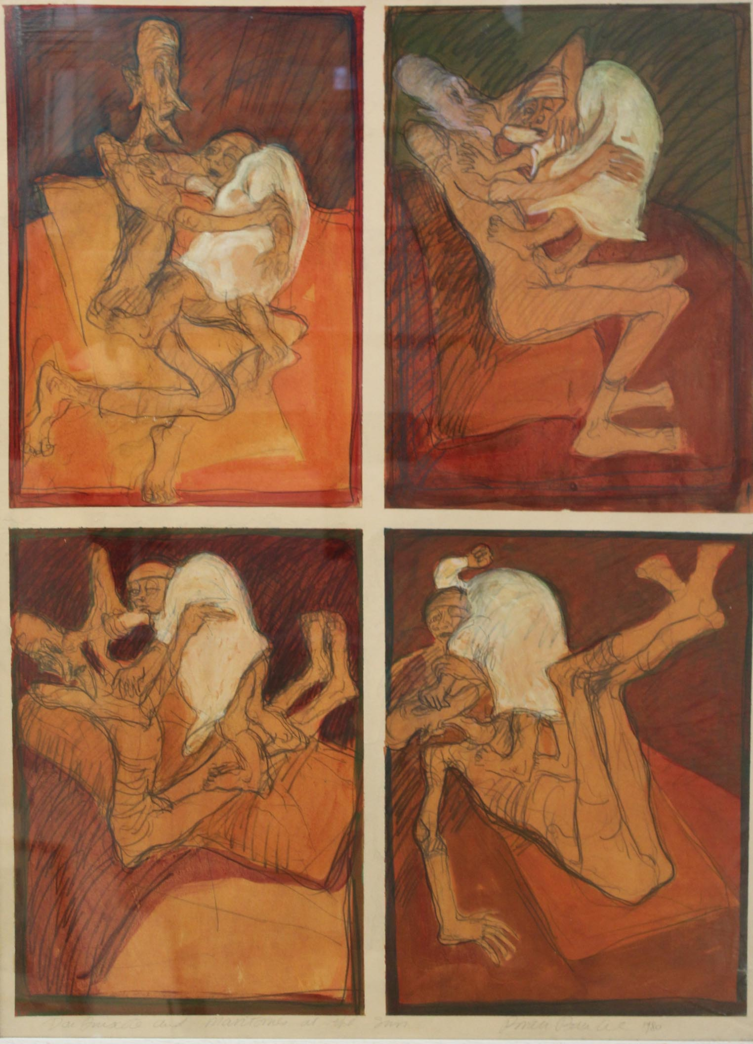 """Lot 53 - Brian Bourke DON QUIXOTE (5) Mixed media, each 39"""" x 27"""" (99 x 68.5cm), signed, inscribed and"""