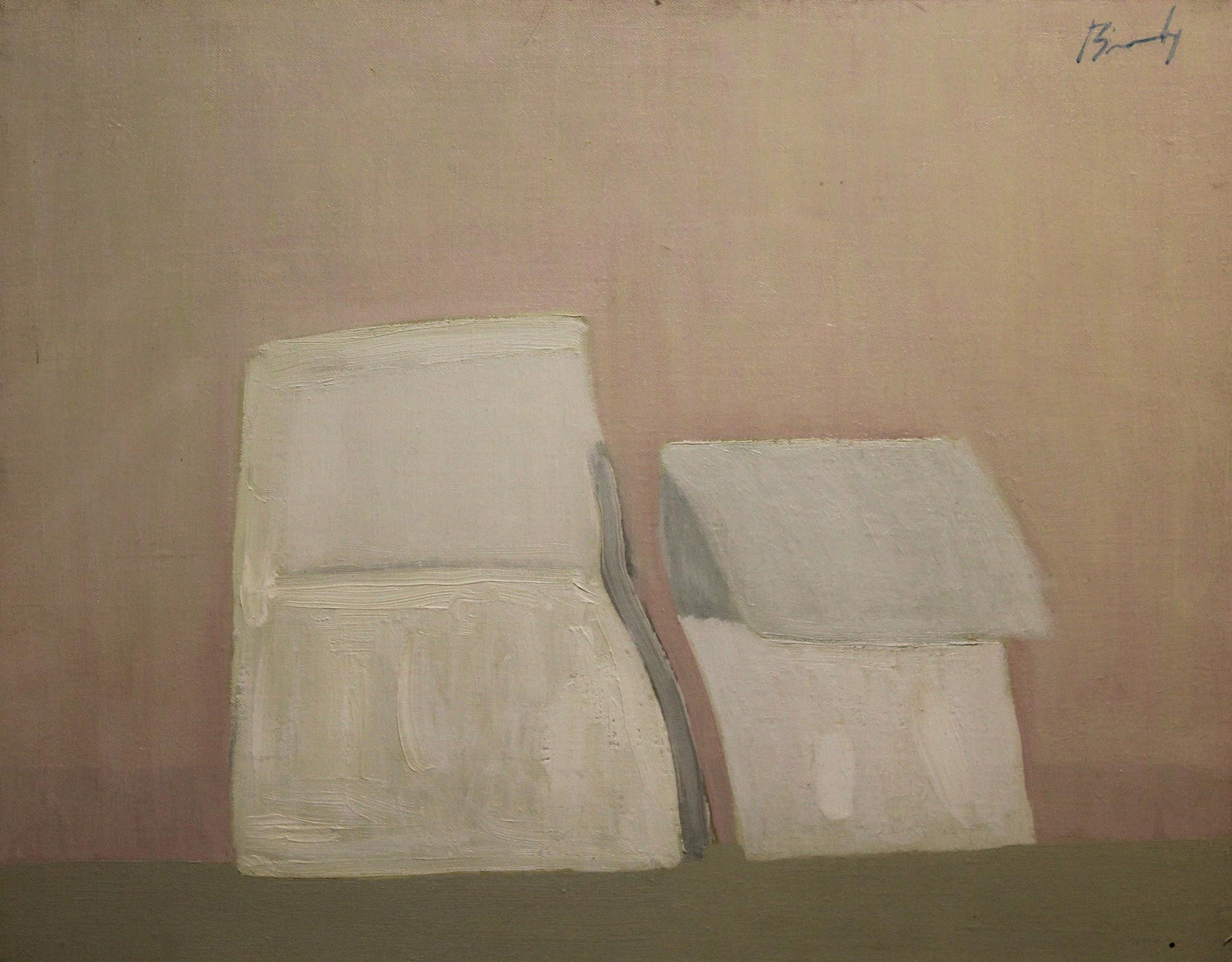 """Lot 35 - Charles Brady HRHA, 1926-1997 TORN ENVELOPE Oil on canvas, 12"""" x 15"""" (30.5 x 38cm), signed; signed"""