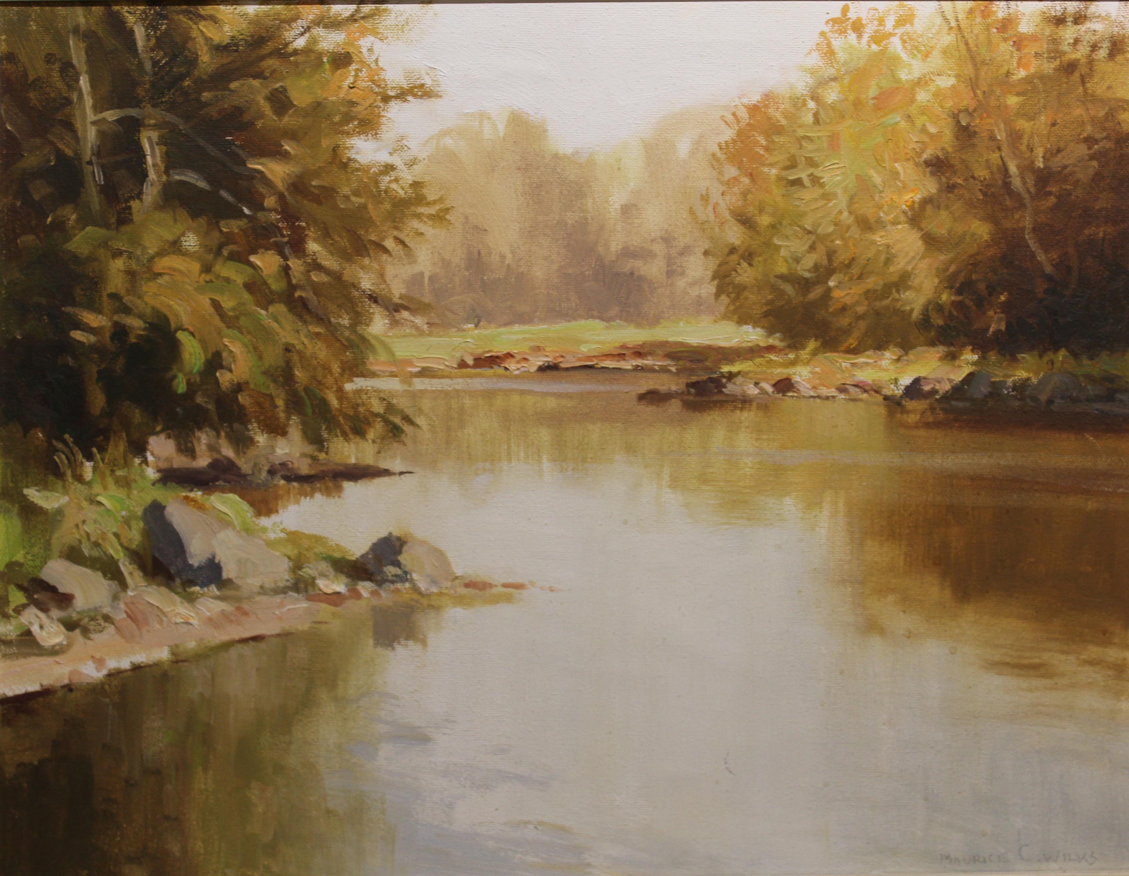 """Lot 27 - Maurice Canning Wilks AUTUMN, TOLLYMORE PK., SHANNON RIVER Oil on canvas, 16"""" x 20"""" (40.7 x 50.7"""