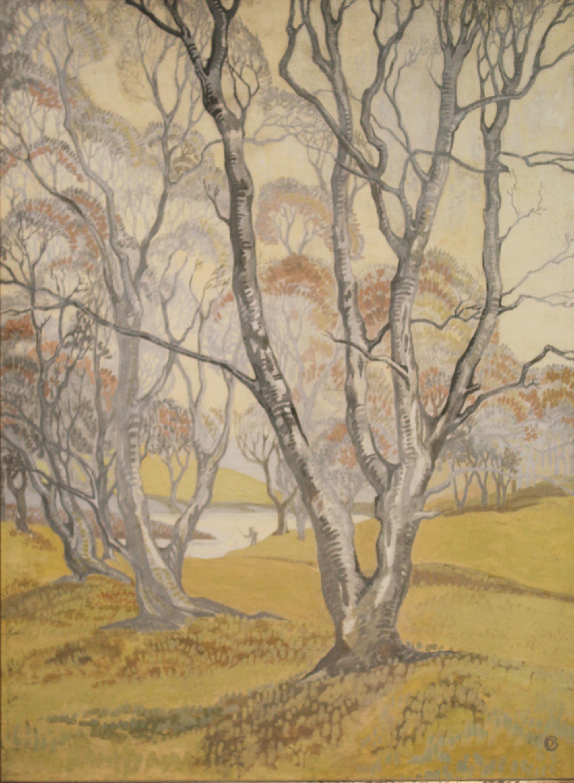 "Lot 13 - Dorothy Blackham RUA 1896-1975 SPRING IN THE WOODS Watercolour, 20"" x 14 1/2"" (50.8 x 36.8cm),"