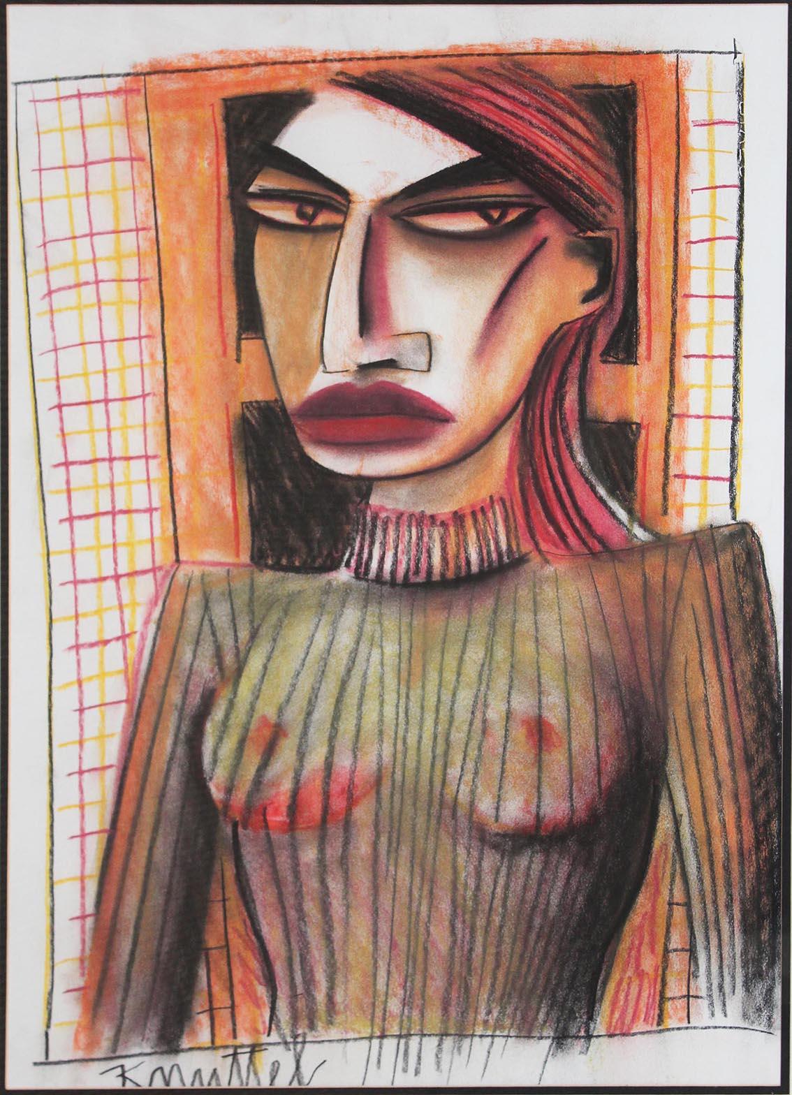 "Lot 41 - Graham Knuttel b. 1954 Female Study Pastel, 27 1/2"" x 20"" (70 x 51cm), signed."