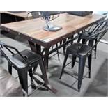 """L2: RUSTIC WOOD KITCHEN TABLE 31""""X79"""""""
