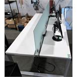 L2: 2 SIDED OFFICE WORK TABLE W/GLASS DIVIDER