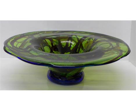 A large and heavy Murano glass bowl or centrepiece, 49.5cm