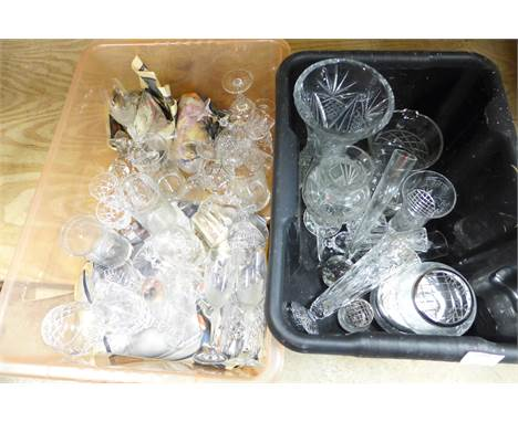 Two boxes of crystal and glass **PLEASE NOTE THIS LOT IS NOT ELIGIBLE FOR POSTING AND PACKING**