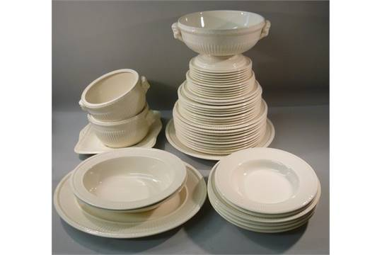 Previous  sc 1 st  The Saleroom & WEDGWOOD EDME PART DINNER SERVICE (10 LARGE PLATES EIGHT BREAKFAST ...