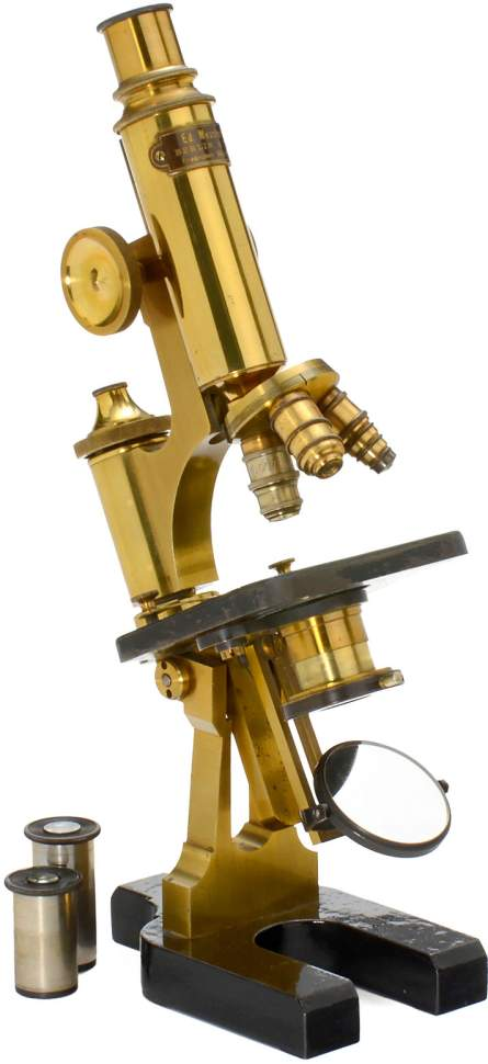 large messter compound microscope c 1870 signed on. Black Bedroom Furniture Sets. Home Design Ideas