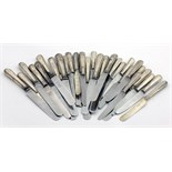 Lot 24 - A set of 10 Victorian ( & later) silver handled Dinner Knives,