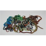 Jewellery: A large box of colourful Costume Jewellery, over 30 bead necklaces,