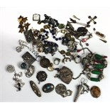 Jewellery: A box file containing numerous items of jewellery, mostly late 19th Century,