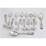 A set of 6 heavy silver Tea Spoons, five London c. 1849, & one Irish, c.