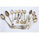 Lot 6 - A pair of English Georgian Table Spoons, London c.