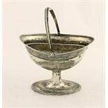 Lot 33 - A good late George III Irish silver Sugar Helmet, with ribbed swing handle,