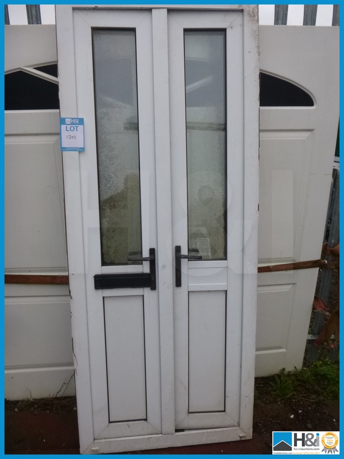 reclaimed white upvc french doors appraisal viewing
