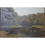 •TAVY Signed unframed oil on board, 45.5 x 60cm, titled verso, LOCH LEVEN 1973, signed unframed