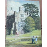 •BUCKLAND ABBEY Signed unframed oil on board, 45.5 x 32.8cm.