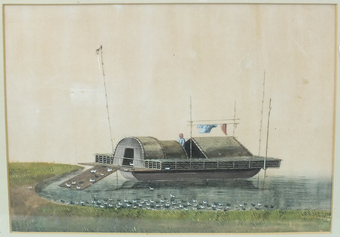 Lot 67 - Late-19th/early-20th century Chinese School THE DUCK KEEPER Unsigned watercolour on rice paper, 19 x