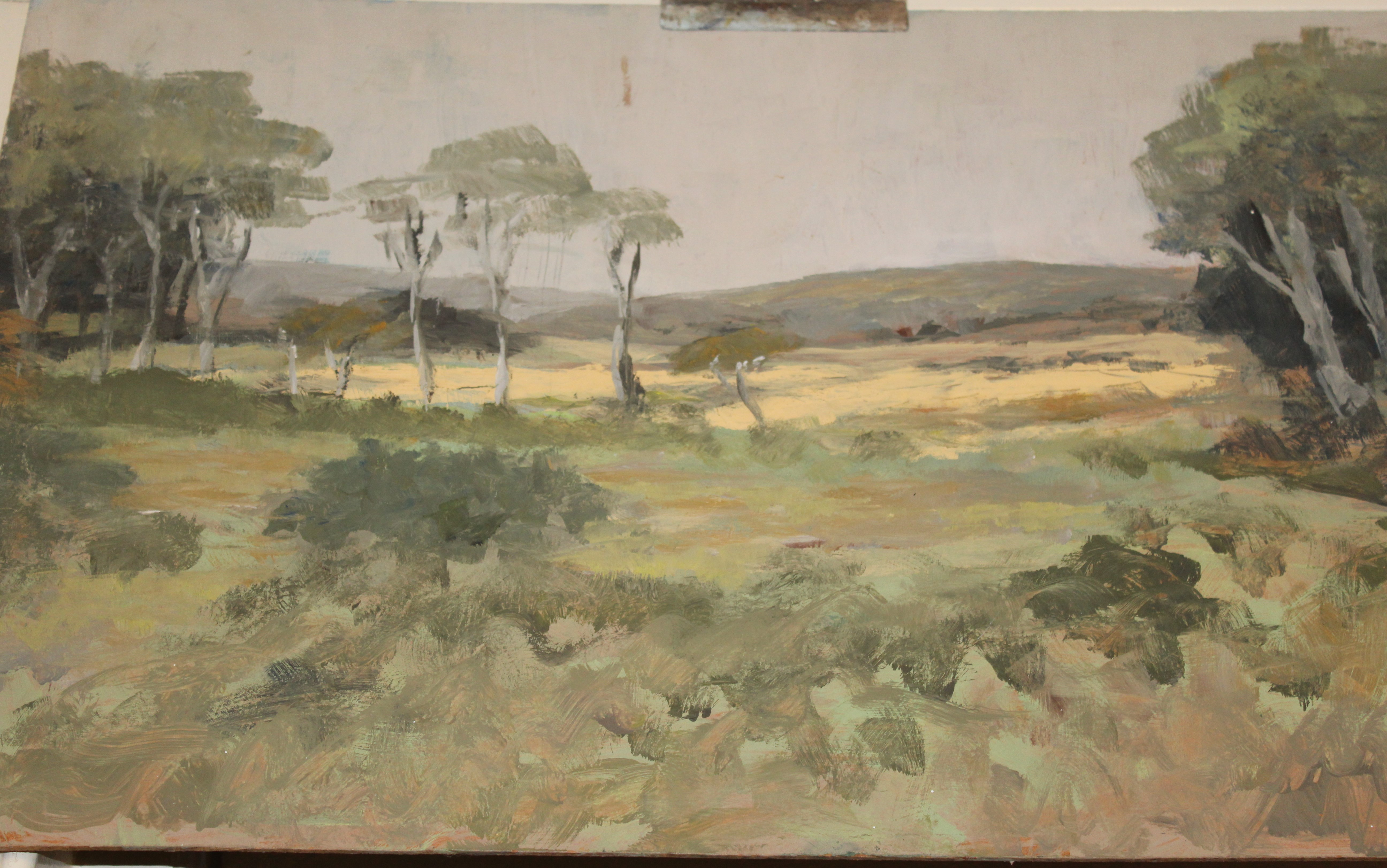•A collection of fourteen unsigned and signed unframed landscape oil paintings on board, including - Image 6 of 11
