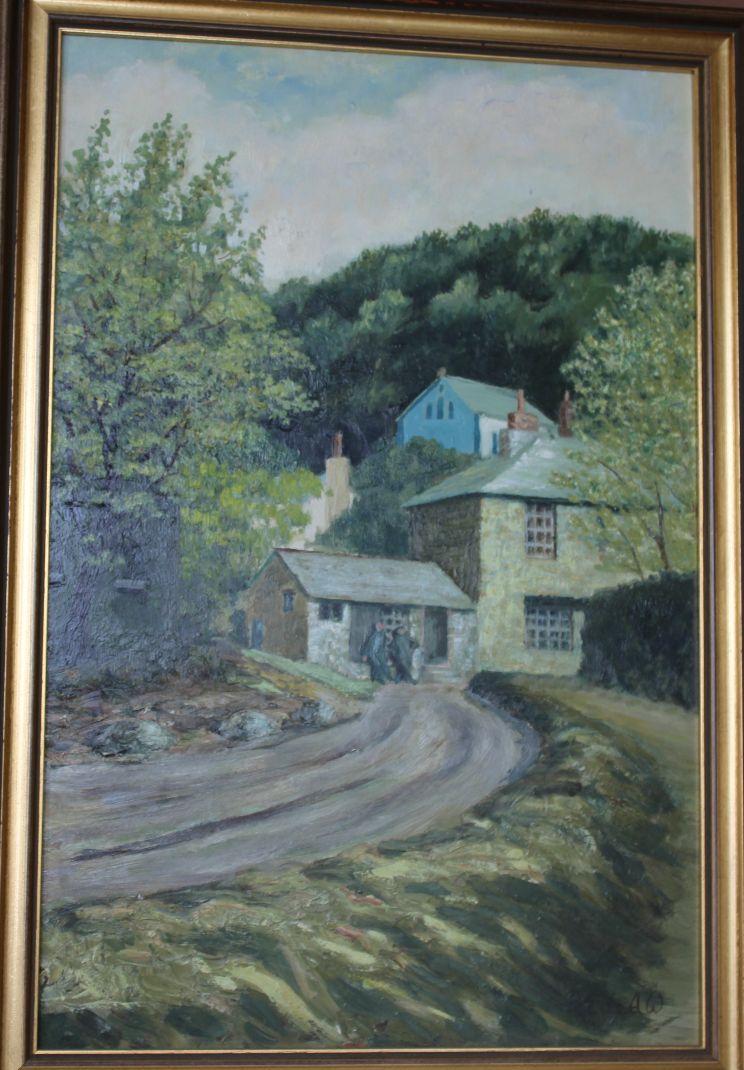 •RIVER MEAVY Signed oil on board, 43.5 x 31cm and VIEW OF MORWELLHAM, 44.5 x 29cm, both titled - Image 3 of 4