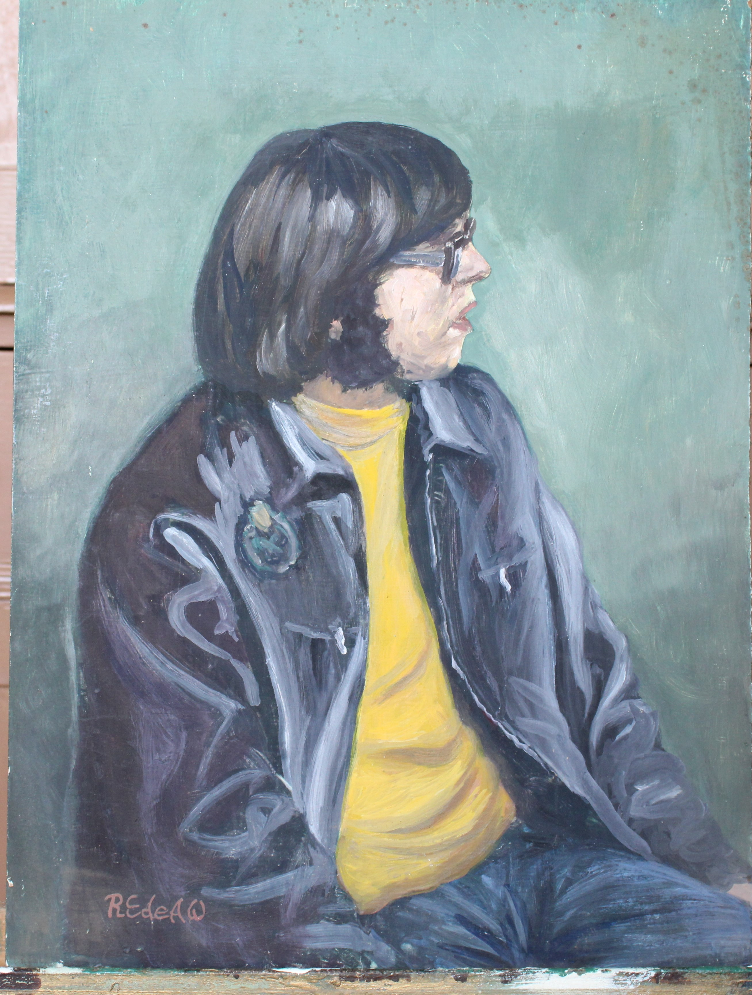 •YOUNG WOMAN SEATED ON CHAISE LONGUE Unsigned unframed oil on board, 61 x 45cm and six other oils of - Image 3 of 7