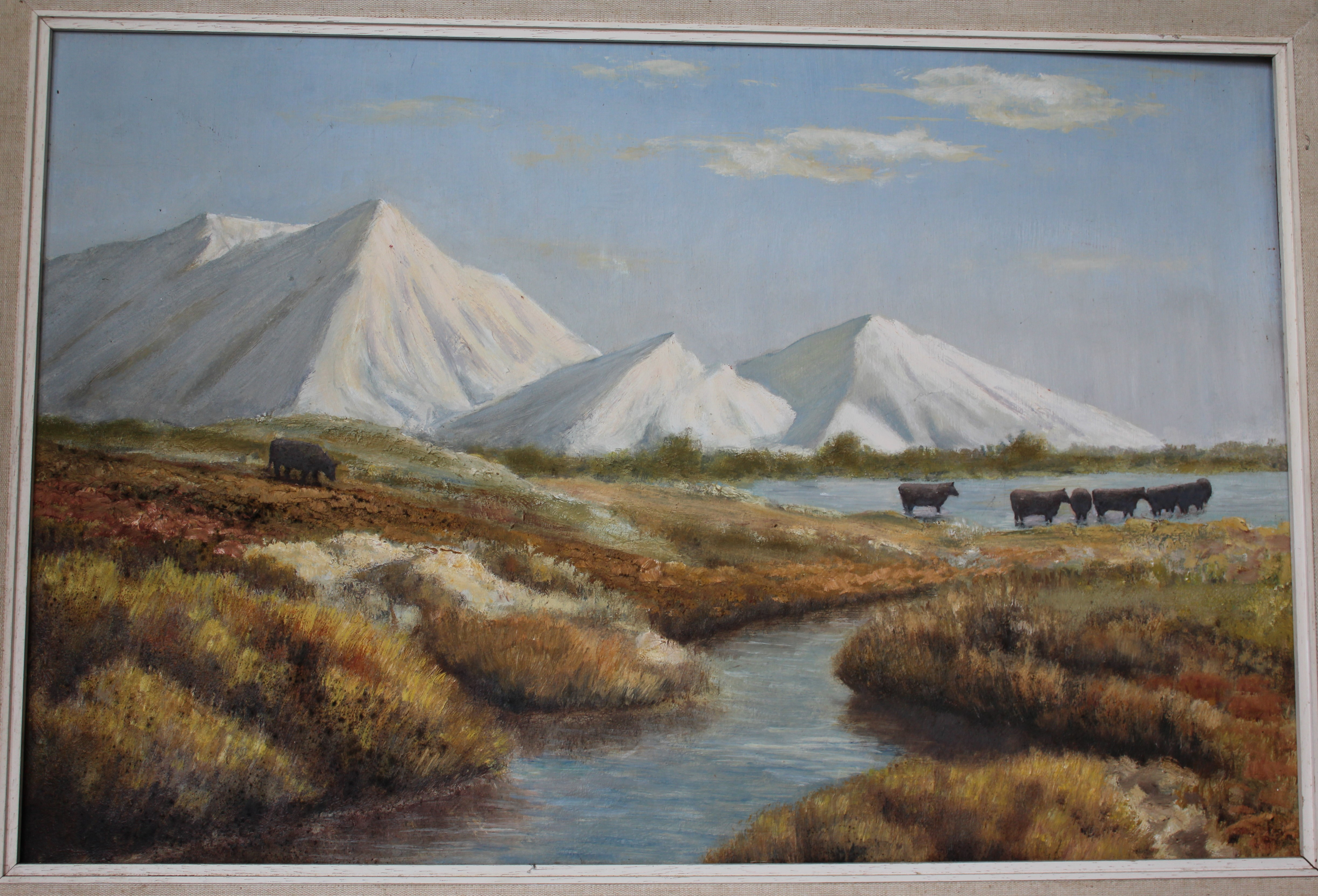 •CHINA CLAY ALPS, DARTMOOR Unsigned framed oil on board, 39 x 59cm and LEE MOOR ALPS, framed oil - Image 2 of 3