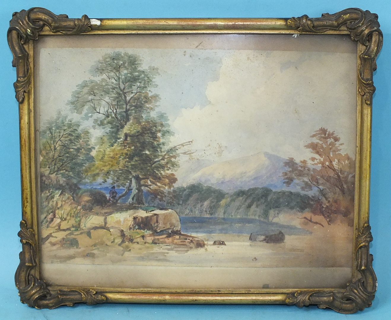 Lot 70 - 19th century English School ON THE ROAD TO BLACKHEATH THROUGH CHARLTON, THE THAMES SHOWN IN THE