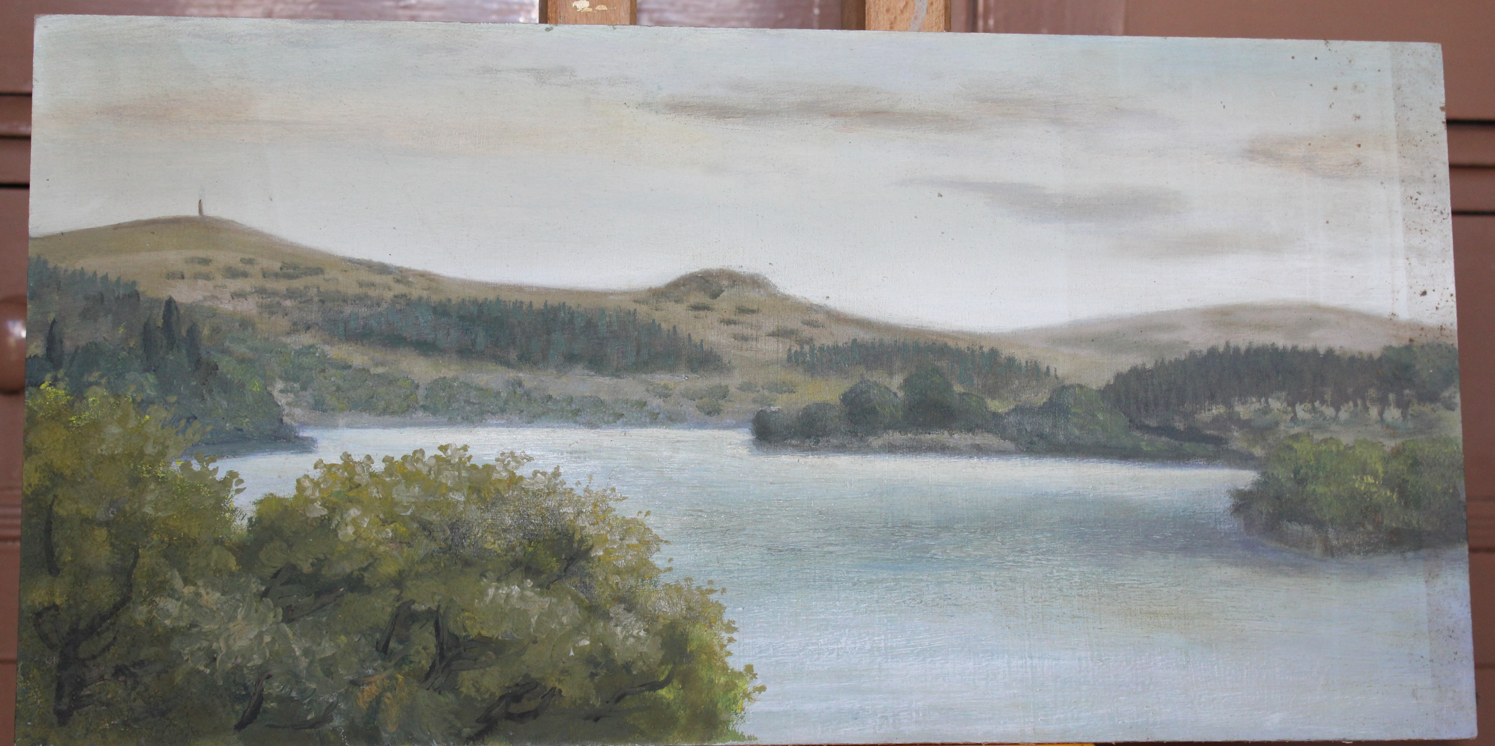 •TAVY Signed unframed oil on board, 45.5 x 60cm, titled verso, LOCH LEVEN 1973, signed unframed - Image 3 of 7