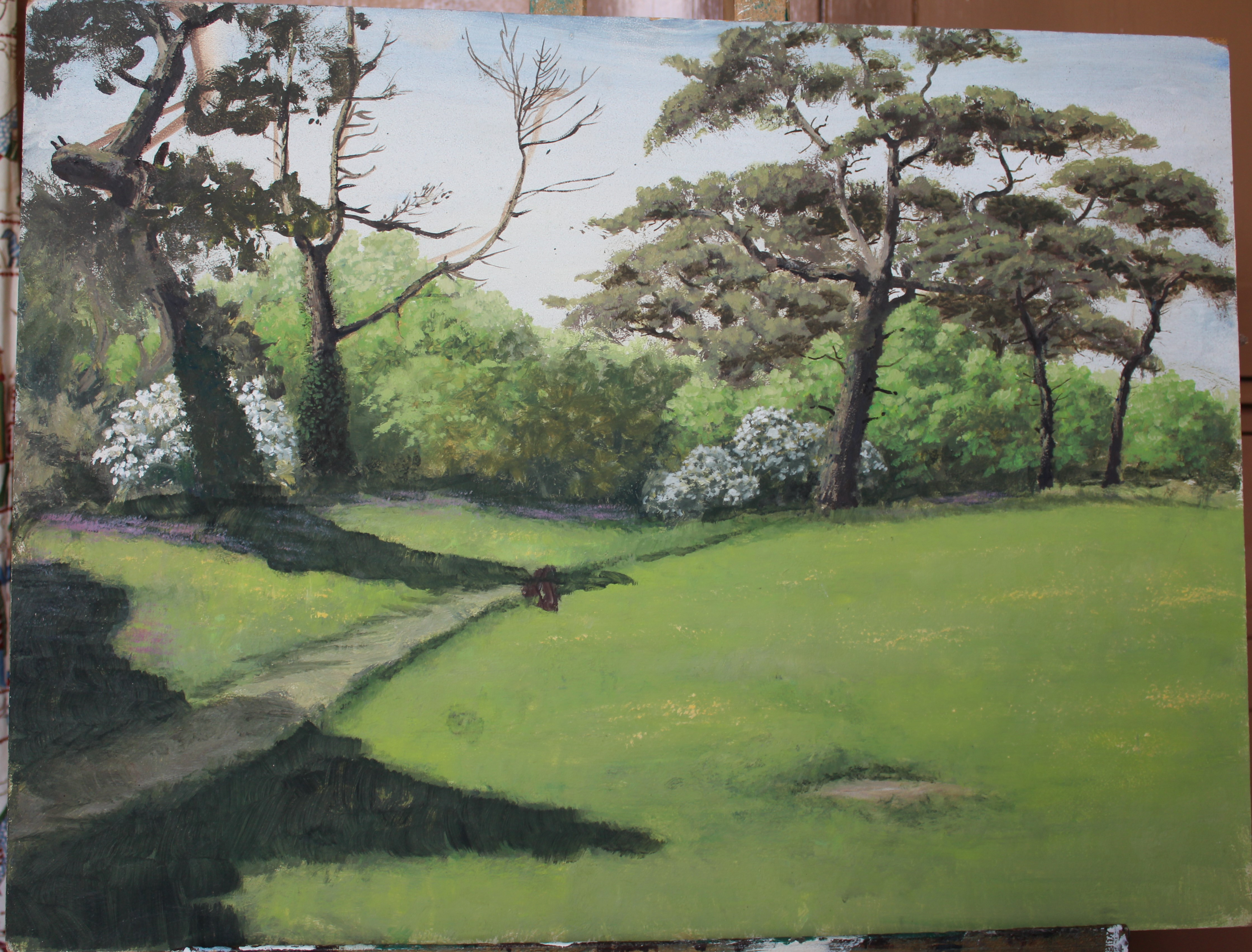 •A collection of fourteen unsigned and signed unframed landscape oil paintings on board, including - Image 5 of 11
