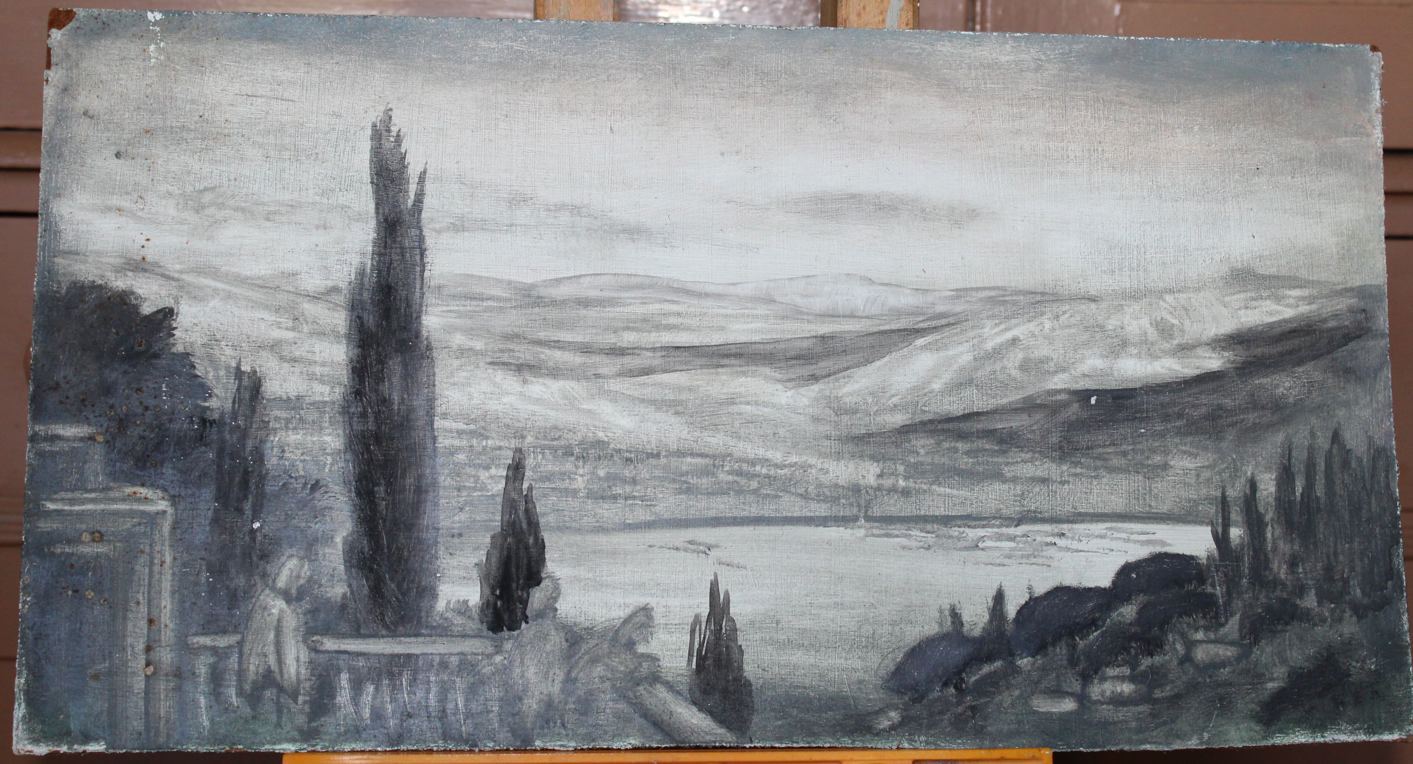 •A collection of fourteen unsigned and signed unframed landscape oil paintings on board, including - Image 7 of 11