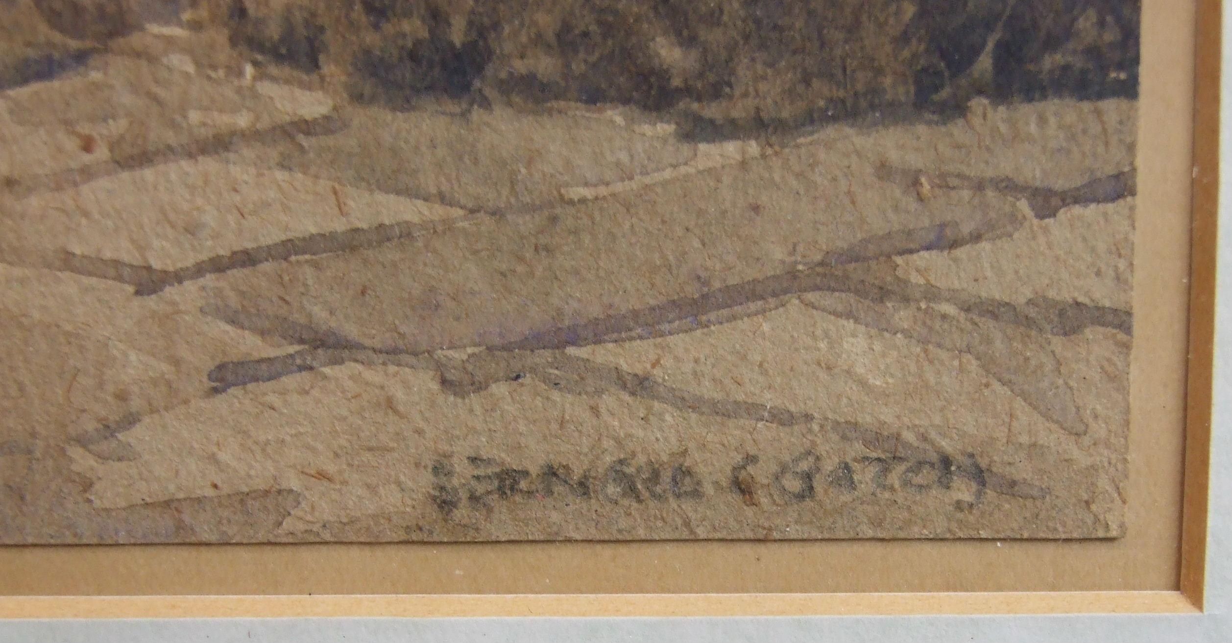 Lot 77 - •Bernard Cecil Gotch (1876-1964) COURTYARD, WINCHESTER COLLEGE Signed watercolour, 36 x 25cm.