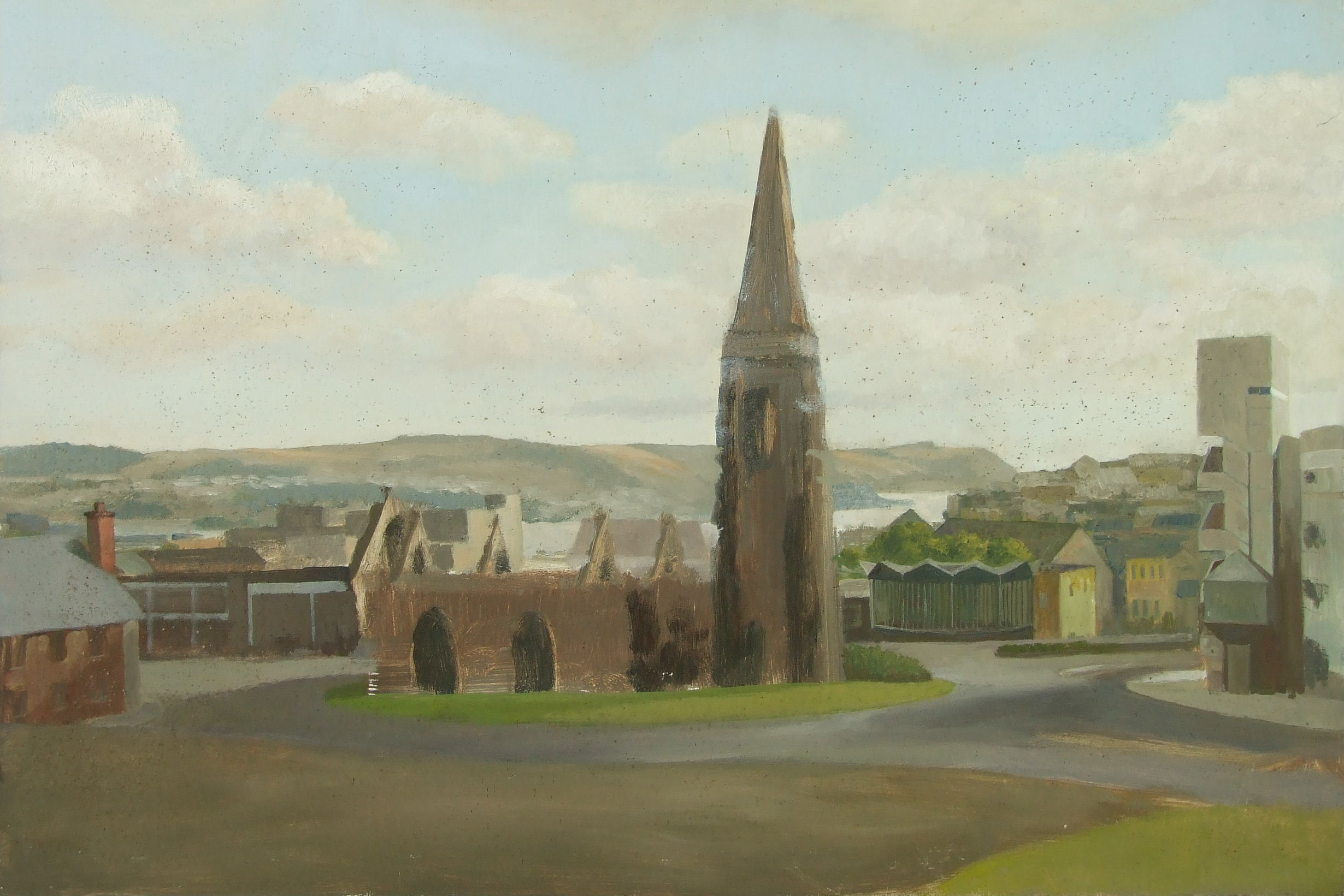 •CHARLES CHURCH, PLYMOUTH Unsigned unframed oil on board, 59.5 x 91cm. - Image 2 of 2