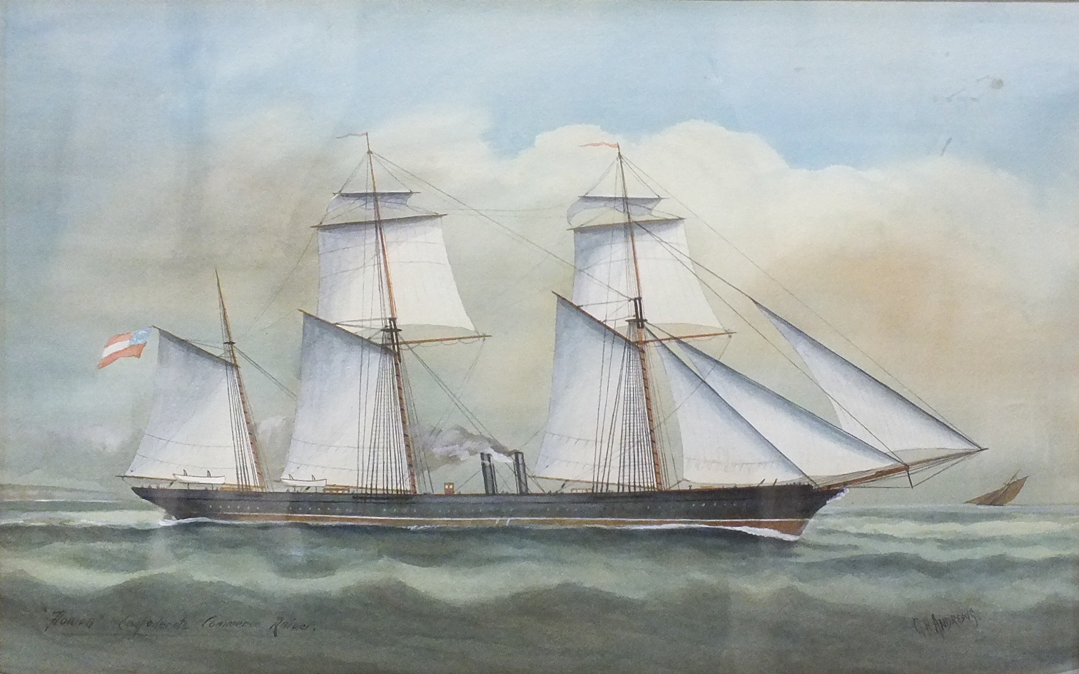 Lot 78 - George Henry Andrews (1816-1898) FLORIDA CONFEDERATE COMMERCE RAIDER Signed and titled