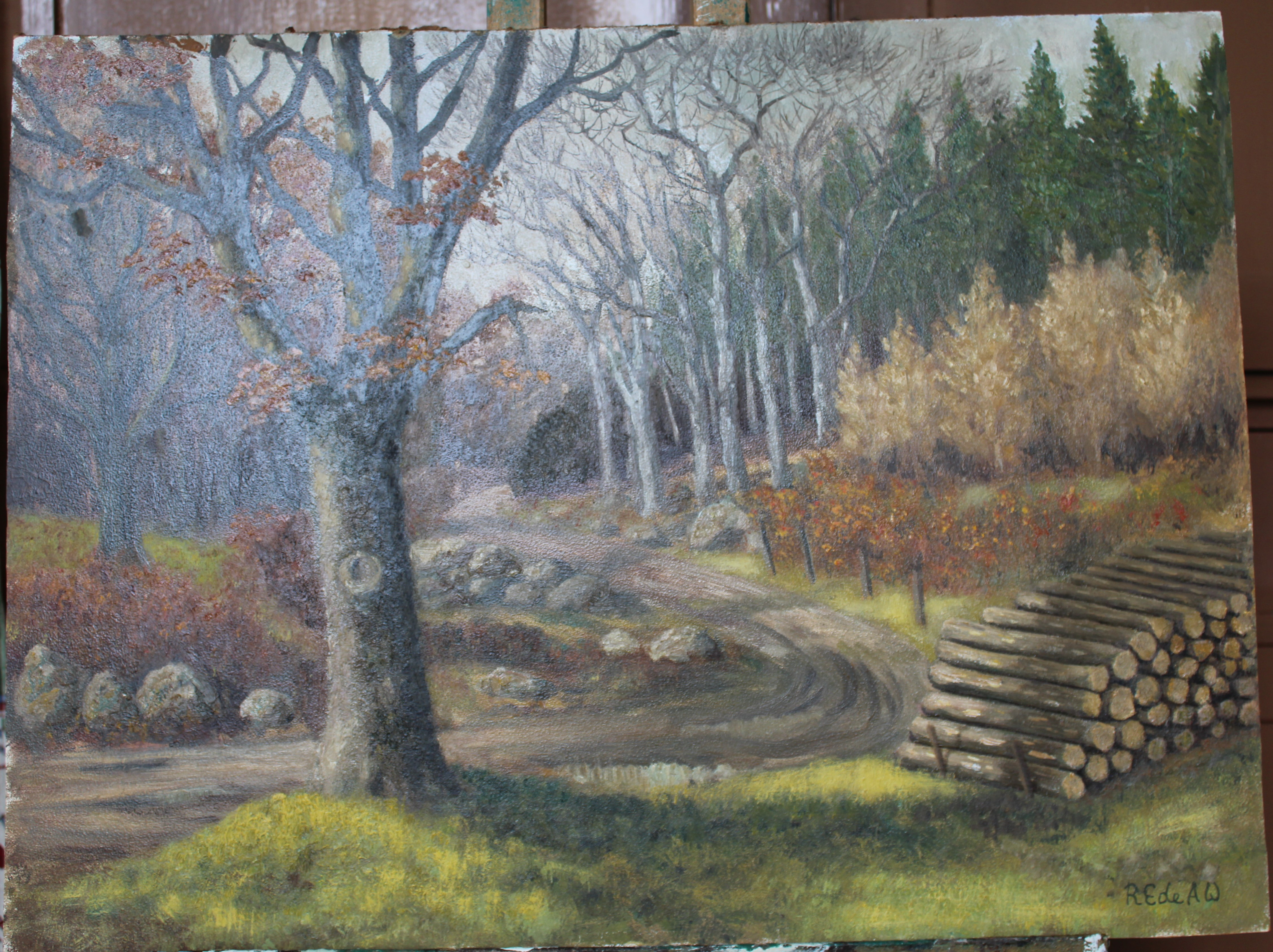 •A collection of fourteen unsigned and signed unframed landscape oil paintings on board, including - Image 2 of 11