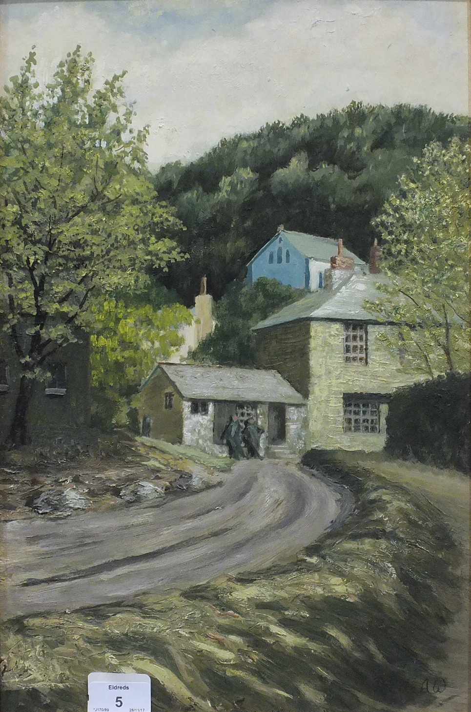 •RIVER MEAVY Signed oil on board, 43.5 x 31cm and VIEW OF MORWELLHAM, 44.5 x 29cm, both titled - Image 4 of 4