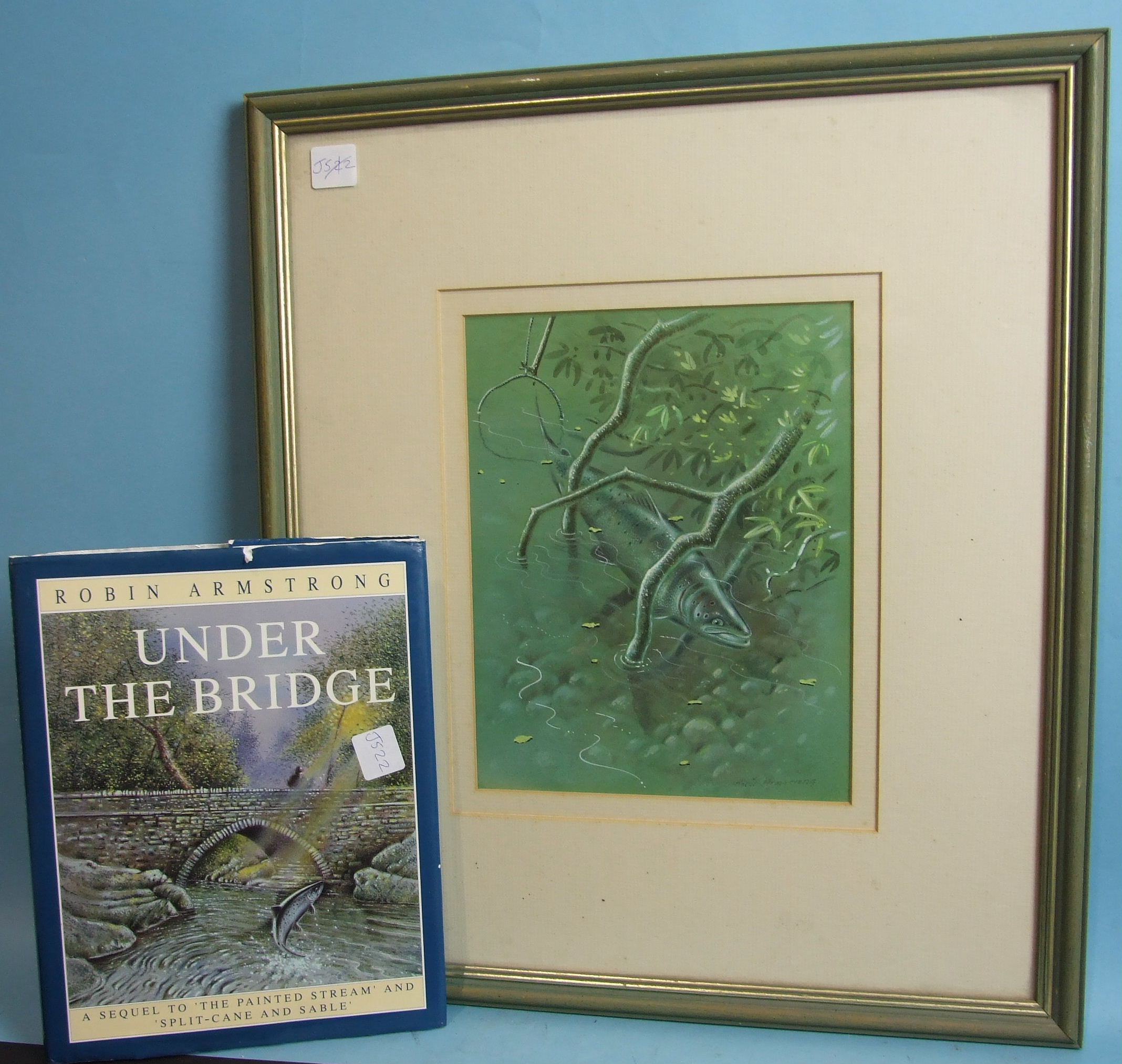 •Robin Armstrong (20th century) CLOSING THE LOOP, A SALMON AMONG THE ROOTS, UNDER THE BANK, THE - Image 2 of 2