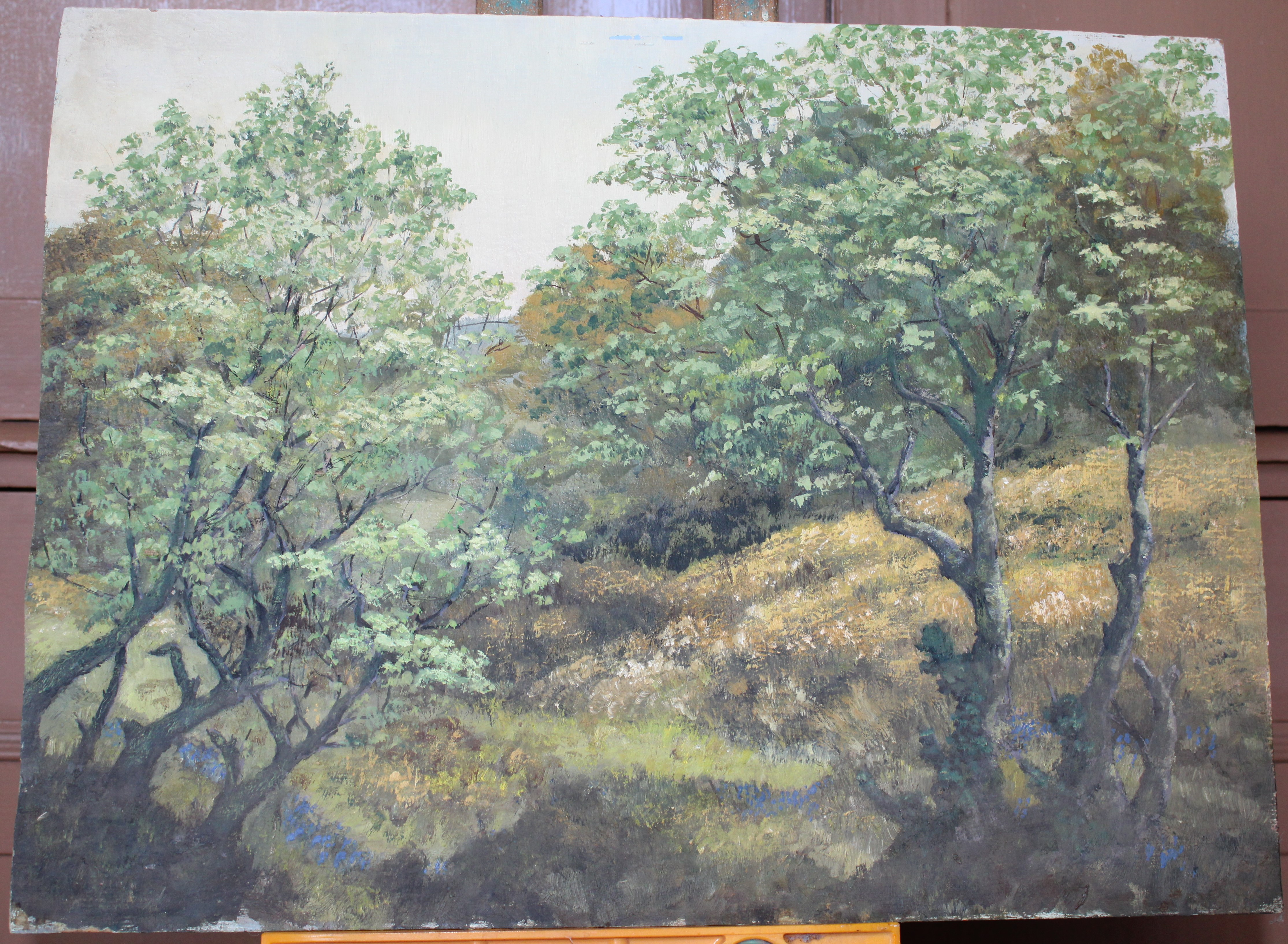 •A collection of fourteen unsigned and signed unframed landscape oil paintings on board, including - Image 4 of 11
