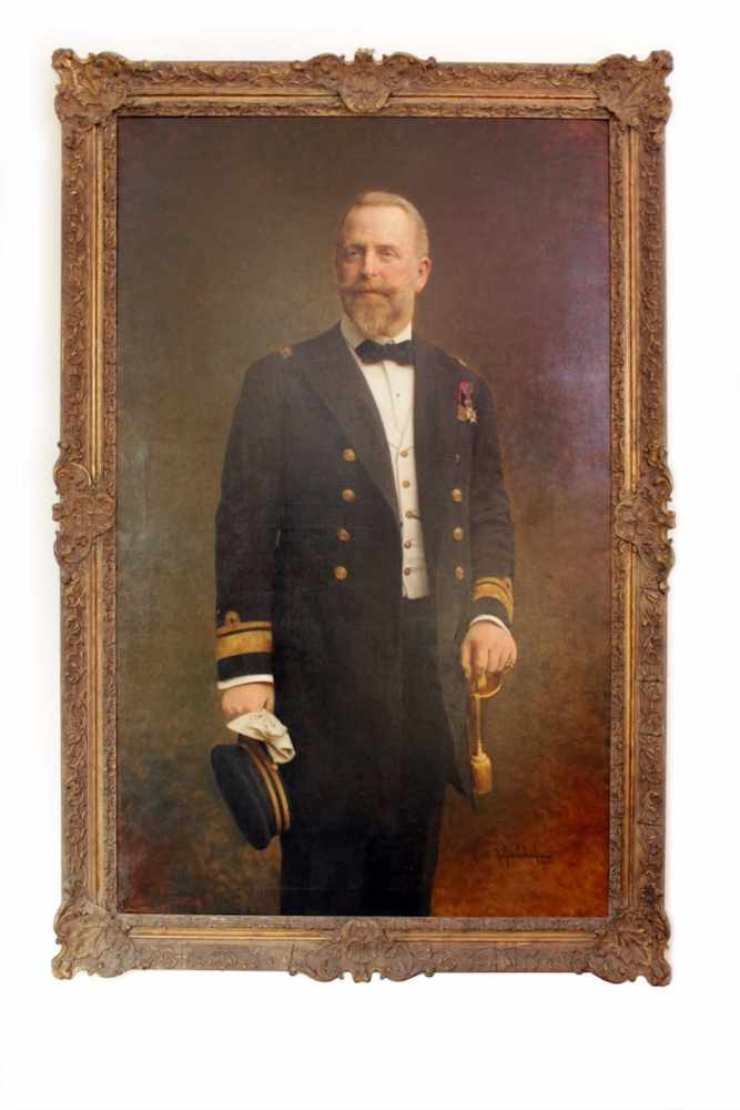 PORTRAIT EINES OFFIZIERS Portrait eines Offiziers aus der Familie Coburg, Georg Fischhoff (1859 -
