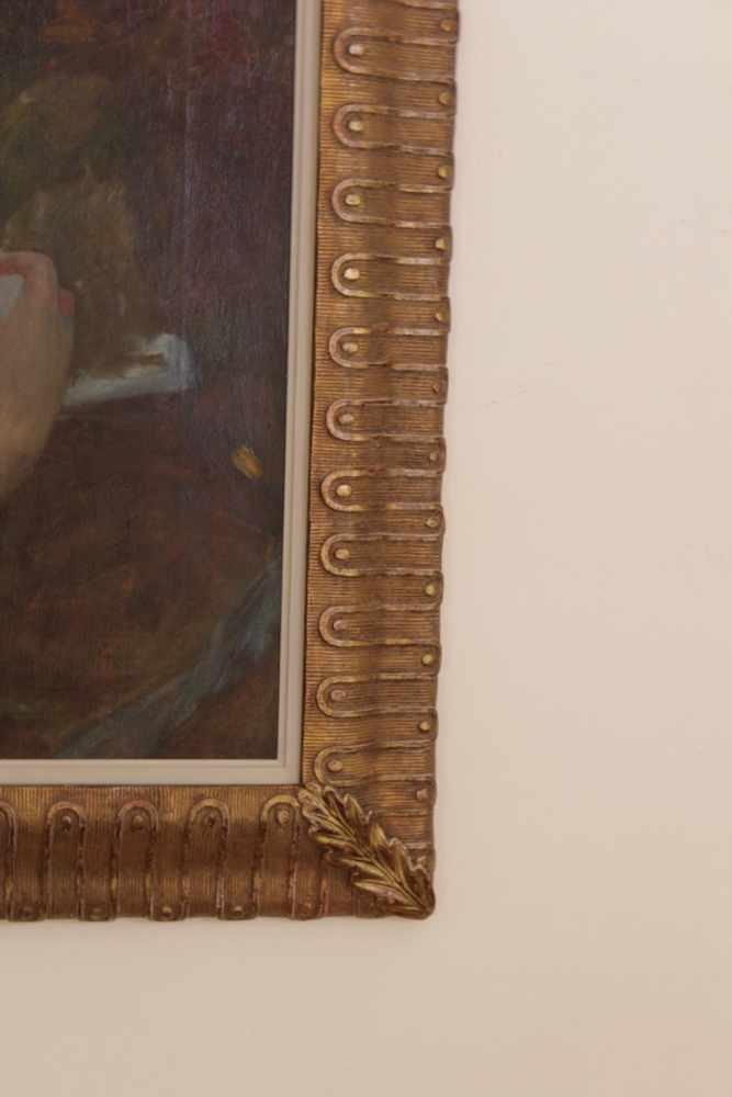 BILDNIS EINER NACKTEN DAME Albert Ritzberger (1853 - 1915), Öl auf Leinwand, 68 x 56 cm, in - Image 2 of 2